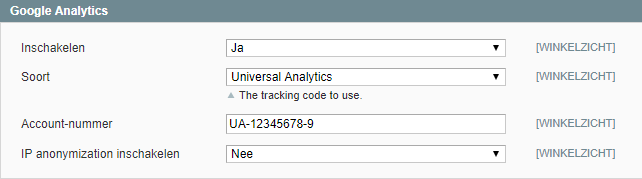 De Google Analytics tracking activeren in Magento 1 uitleg